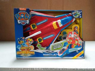 Paw Patrol, Super Paws, 2-in-1 Transforming Mighty Pups Jet Command Center with Lights and Sounds (online $59)