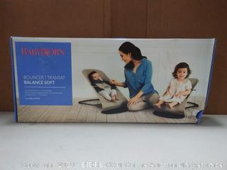BABYBJORN Bouncer Balance Soft - Dark Gray/Gray, Jersey Cotton (online $199)