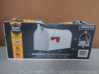 Life and Home: Gibraltar ADM11W01 Admiral Post Mounted Mailbox Couple Bent Spots On Right Side