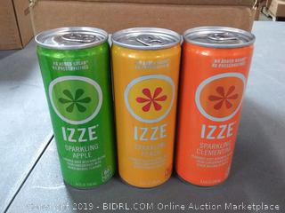IZZE Sparkling Juice, 3 Flavor Variety Pack, 8.4 oz Cans, 12 Count