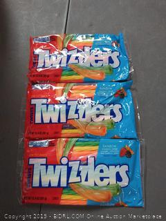 Twizzlers Rainbow Candy Straws Licorice - 12.4-oz. Bag pack of 3