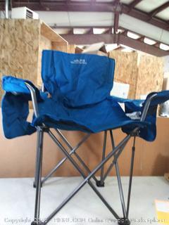 King Kong Chair Deep Sea blueee Armrest Steel Frame Powder