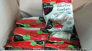 gluten-free mini rice crackers box of 6