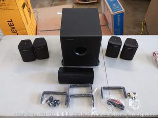 Monoprice 5.1 Channel home theater satellite speakers & subwoofer