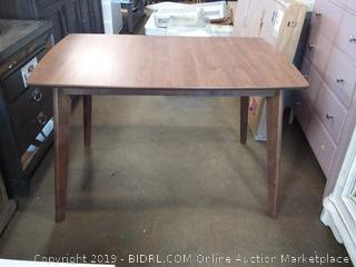 Mid-Century Modern Natural Walnut Dining Table (Online $319.00)