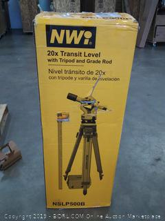 MWI 20x Transit level with tripod and grade rod (Online $389)