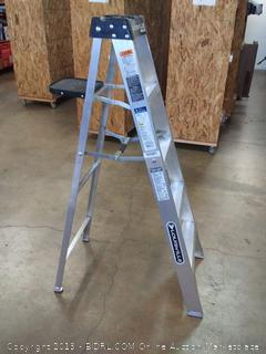 Louisville Ladder AS3005 aluminum 6 ft ladder 300 lb Duty rating 5
