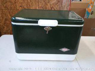 Coleman steel-belted cooler 54 quarts green