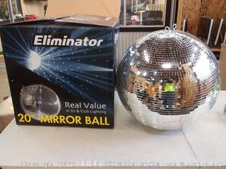 Eliminator Lighting 20in mirror ball