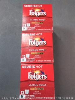 Folgers Gourmet Selections Coffee - Classic Roast 12.00 ct pack of three