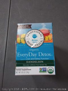 Traditional Medicinals Organic Everyday Detox Dandelion Tea -- 16 pack of three