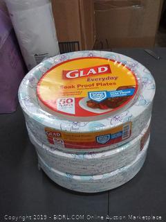 glad soak proof plates pack of three