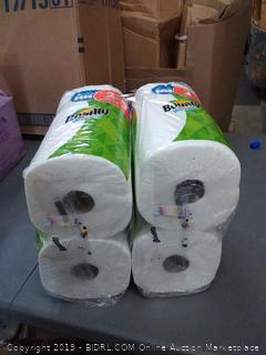 bounty family size paper towels pack of 4