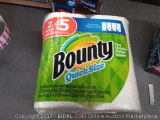 Bounty quick size pack of 2 paper towels
