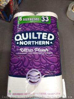 Quilted Northern ultra-plush 3 cushiony and absorbent layers toilet paper 8 double rolls