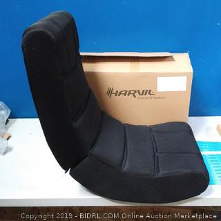 Harvil Ergonomic Video Gaming Floor Rocker Chair, Black (online $65)