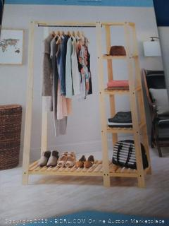 Whitmor Slat Wood Wardrob