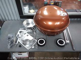 Weber 14402001 Original Kettle Premium Charcoal Grill, 22-Inch, Copper