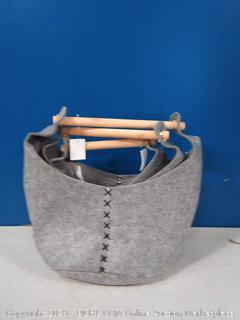 the West Coast cozy home felt basket bucket bag set of 3 (online $49)