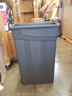 23 gallon slim trash can no handle Gray plastic