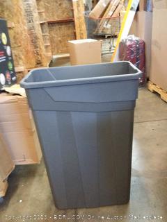 23 gallon slim trash can Grey plastic