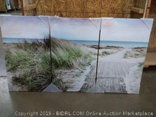Hardy gallery print on canvas set 20 x 34 x 3