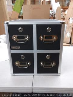 Vault CD cabinet Cube pH - black - case pk-1