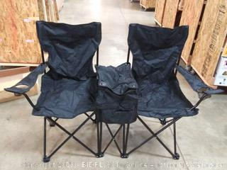 trademark Innovations do all black event chairs with cup holder