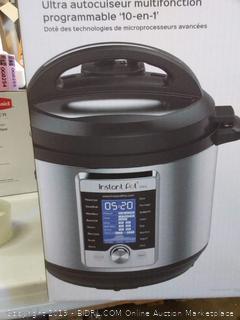 Instant Pot Ultra 8 Qt 10-in-1 Multi- Use Programmable Pressure Cooker, Slow Cooker, Rice Cooker, Yogurt Maker, Cake Maker, Egg Cooker, Sauté, Steamer, Warmer, and Sterilizer(small tent in back of machine)