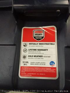 Rubbermaid roughneck 10 gallon storage buckets plastic