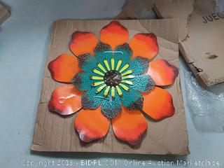 juegoal metal flower wall art