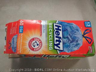 Hefty Trash Bags for the Recycling Bin - Blue, 13 Gallon