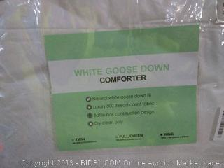 white goose down comforter  King
