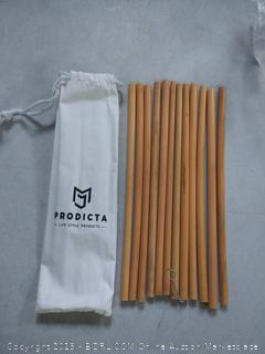 eco-friendly reusable bamboo drinking straws 12 pack