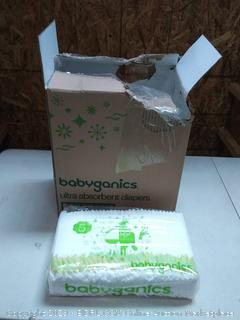 babyganics Ultra absorbent diapers size 5 master pack