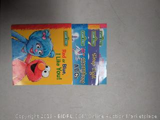4 Sesame Street books