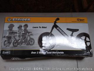 Strider kids bike 18 month to 5 year old black