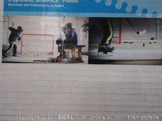 Skate Anytime - Synthetic Ice for Hockey - Skateable Artificial Ice Tiles - Backyard Ice Rink - Starter Kit (online $214)