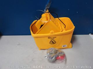 Simpli-Magic 79139 Commercial Mop Bucket with Side Press Wringer, Yellow