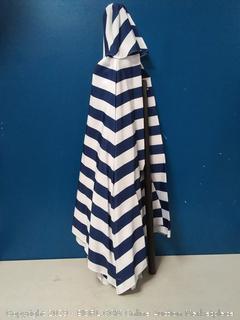 HERMO 96s Roun 9 Ft Outdoor Patio Market Table Umbrella, Blue