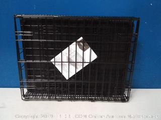 Single Door Folding Metal Cage Crate For Dog or Puppy - 24 x 18 x 20 Inches