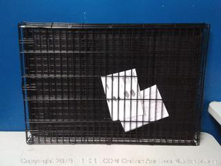 Single Door Folding Metal Cage Crate For Dog or Puppy - 42 x 28 x 30 Inches