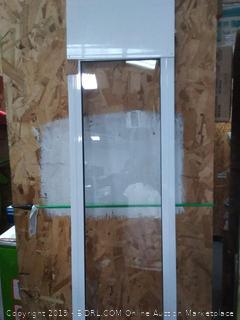PetSafe Freedom Aluminum Patio Panel Sliding Glass Dog and Cat Door, Adjustable 76 13/16 in to 80 11/16 in - Medium White Pet Door (online $134)