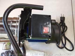 1.6 HP shallow well sump pump stainless booster pump lawn water pump electric water transfer home garden irrigation blue