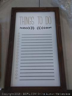 nbghome 13 x 21.5 things to do whiteboard with frame