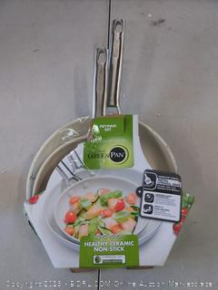greenpan fry pan set 8 in / 20 cm + 10 inch / 26 cm