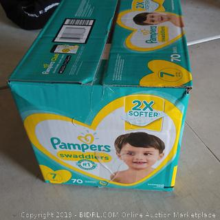 Pampers Swaddlers Size 7 (70 total)