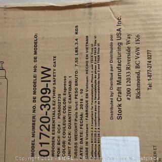 Wooden Essentials EZ Thru Safety Gate