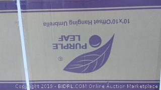 Purple Leaf 10'x10' Offset Hanging Umbrella
