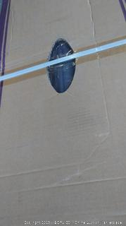 Purple Leaf 11' Offset Hanging Umbrella